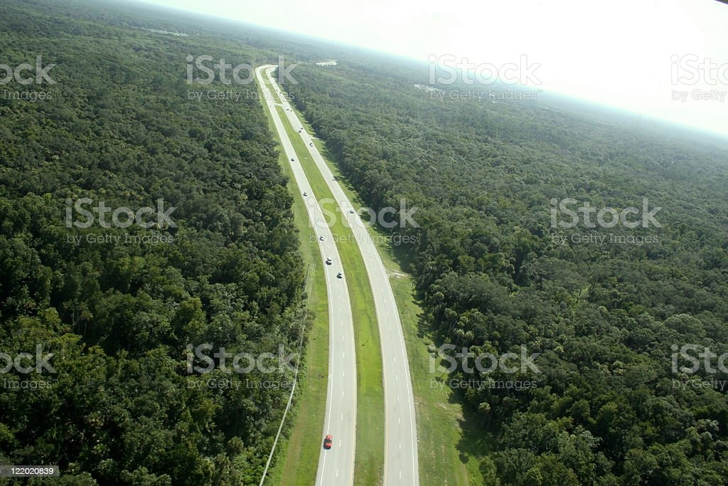 Aerial view of I 95 in florida stock photo
