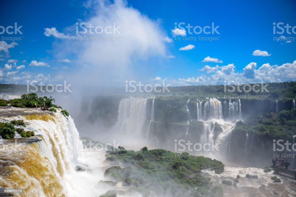 Aerial view of Iguazu Falls in Iguacu National Park stock photo