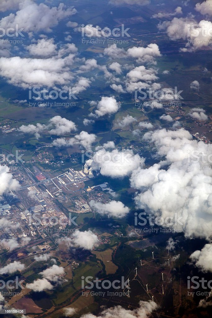 Aerial View of Industrial Area royalty-free stock photo