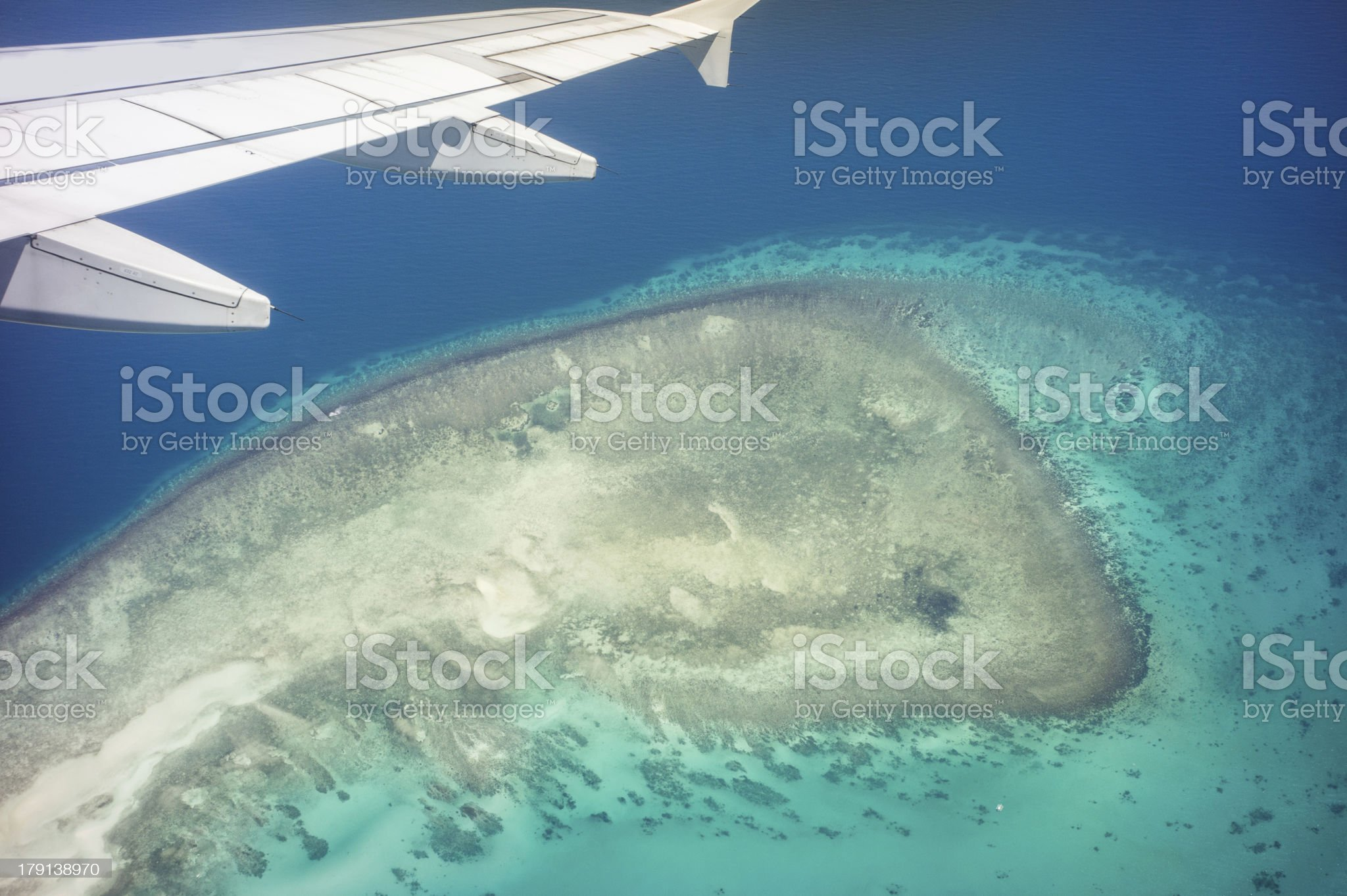 Aerial view of island royalty-free stock photo