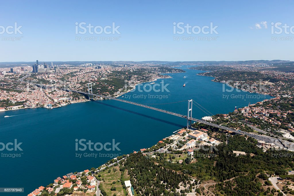 Aerial View of Istanbul City stock photo