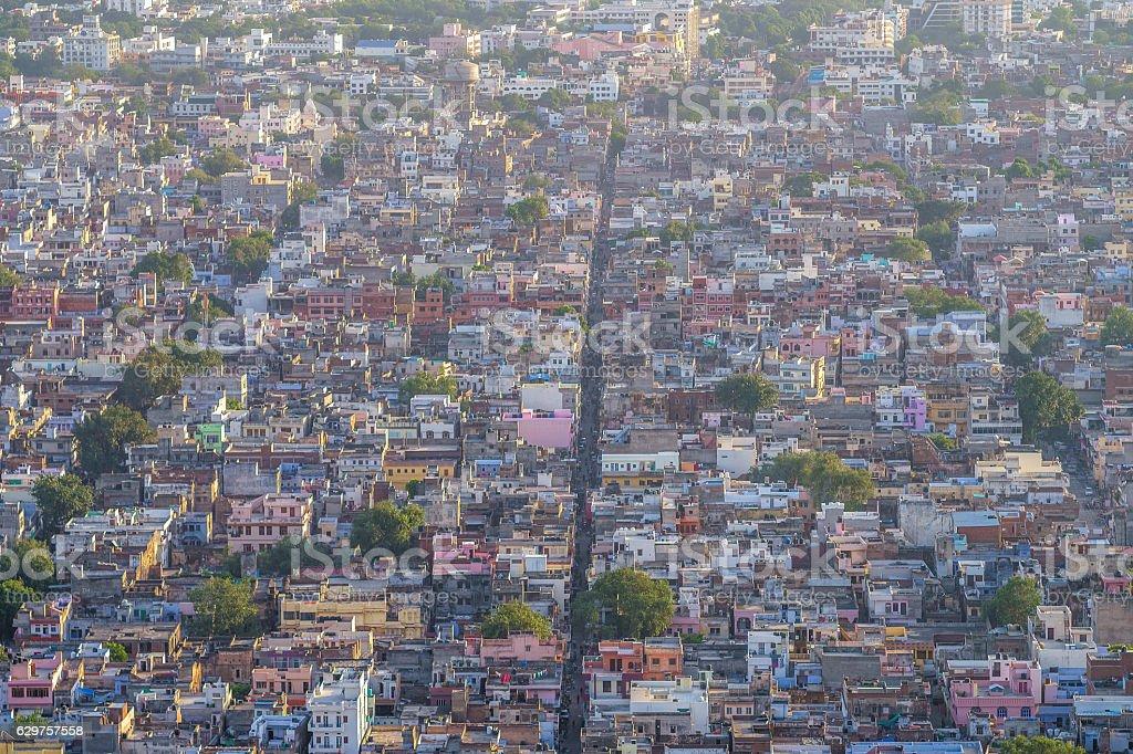 aerial view of jaipur stock photo