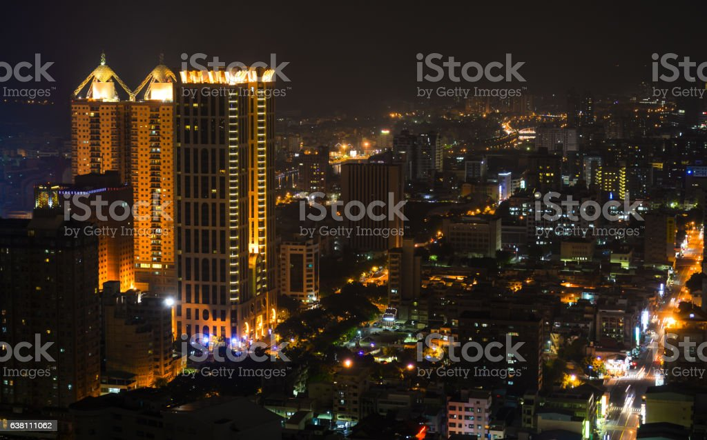 Aerial view of Kaohsiung City stock photo