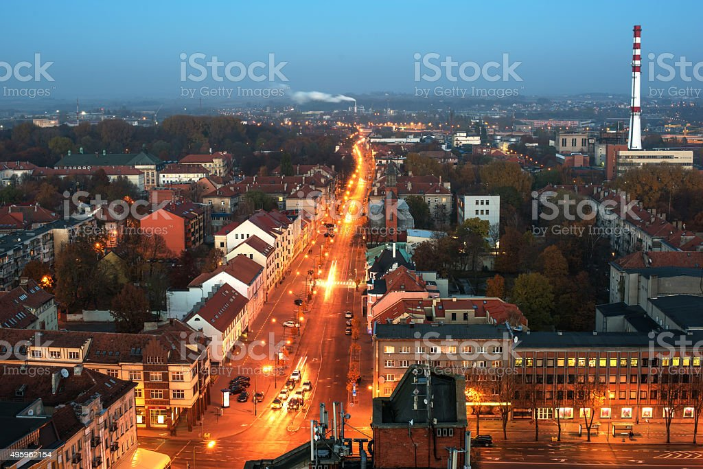 Aerial view of Klaipeda, Lithuania stock photo