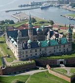 Aerial view of Kronborg Castle