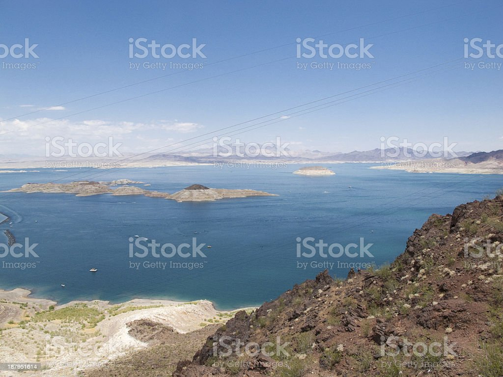 Aerial view of Lake Meed stock photo