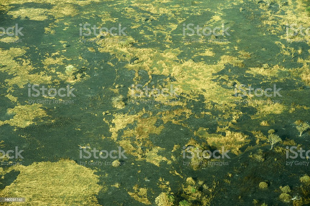 Aerial view of landscape in South Sudan royalty-free stock photo