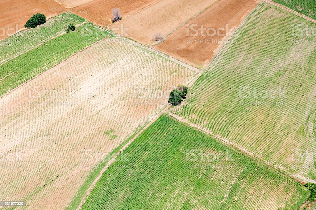 Aerial View of Landscape stock photo