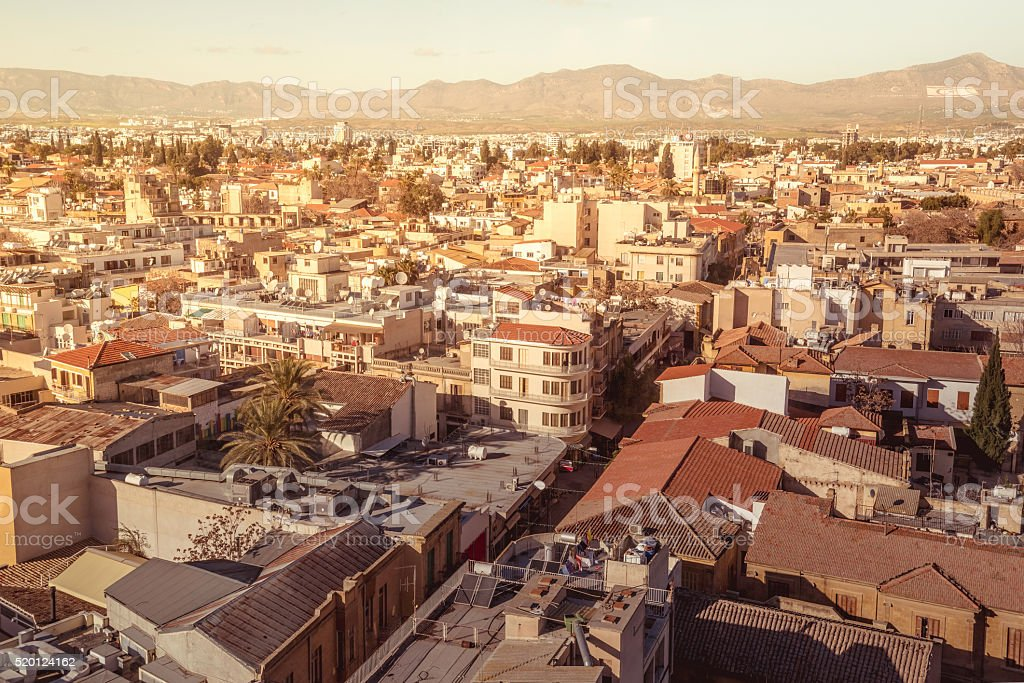 Aerial view of Ledra street. Nicosia. Cyprus stock photo