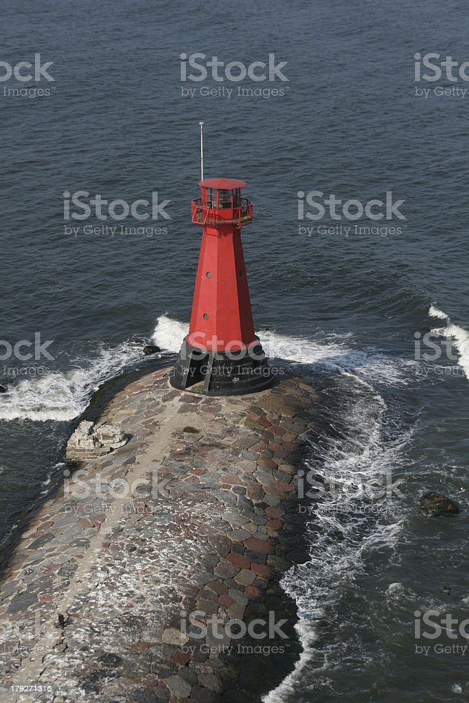 Aerial view of Lighthouse royalty-free stock photo
