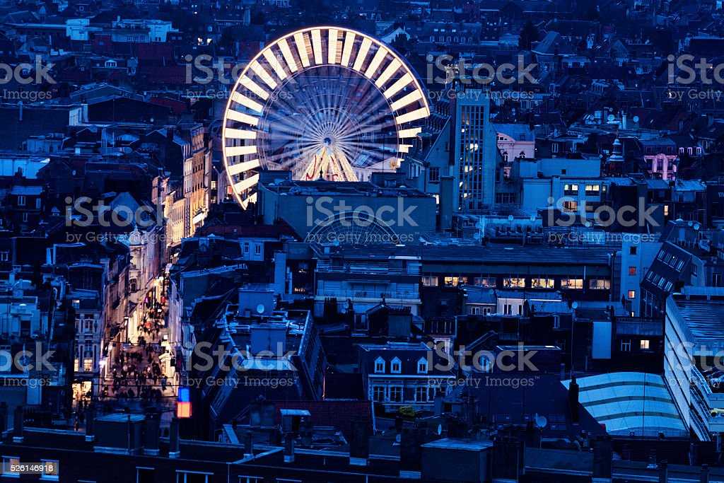 Aerial view of Lille stock photo