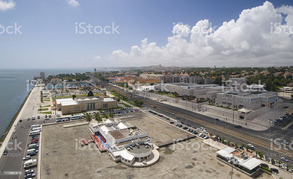 Aerial view of Lisbon royalty-free stock photo