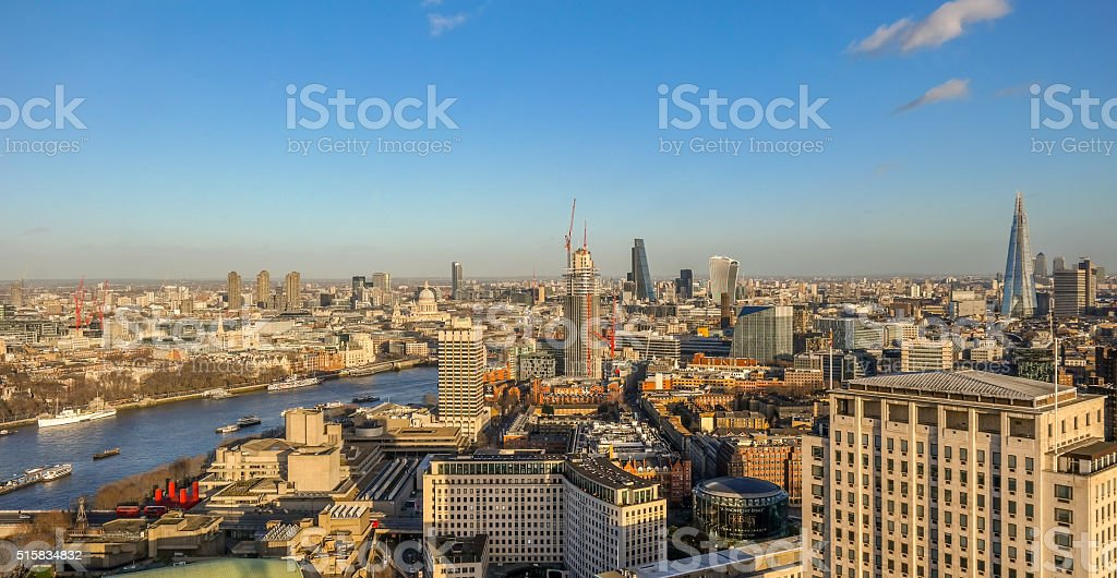 Aerial view of london city stock photo