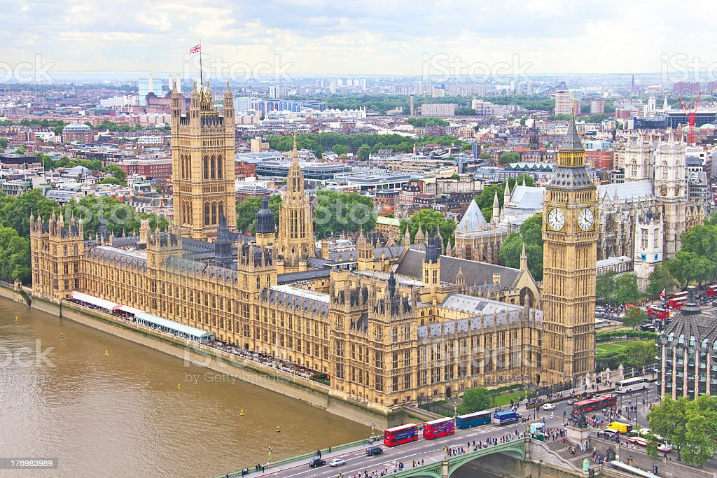 Aerial view of London royalty-free stock photo