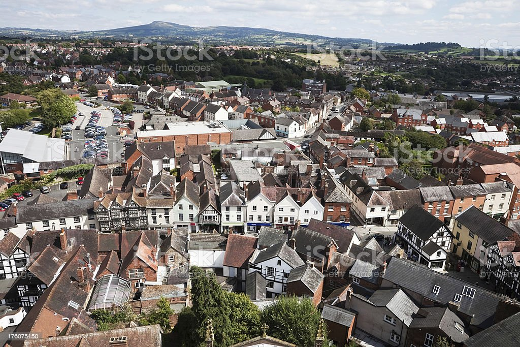 Aerial View of Ludlow royalty-free stock photo