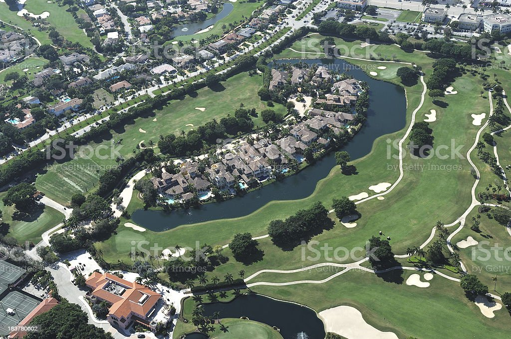 Aerial View of Luxury Golf Community royalty-free stock photo