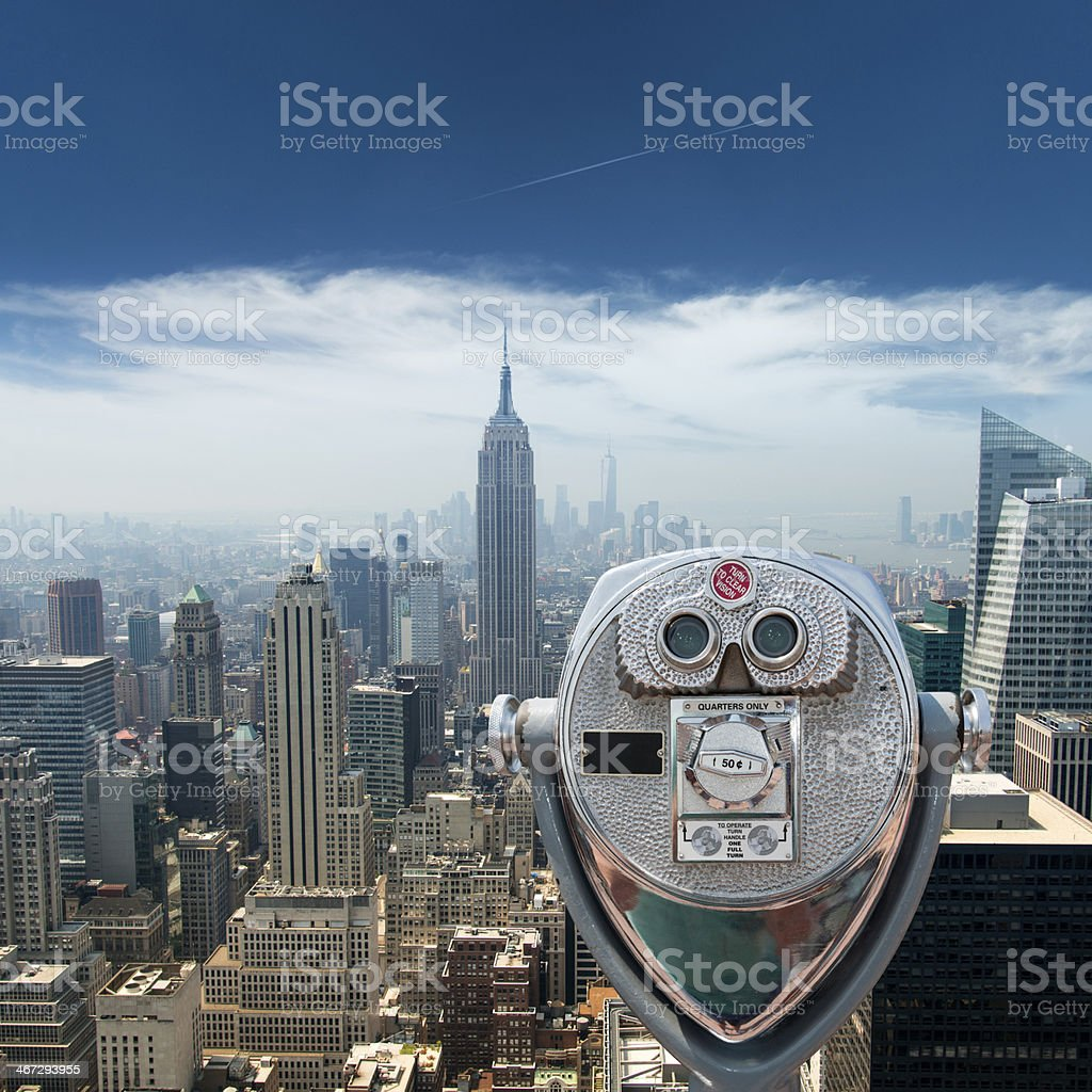 Aerial view of Manhattan New York City royalty-free stock photo