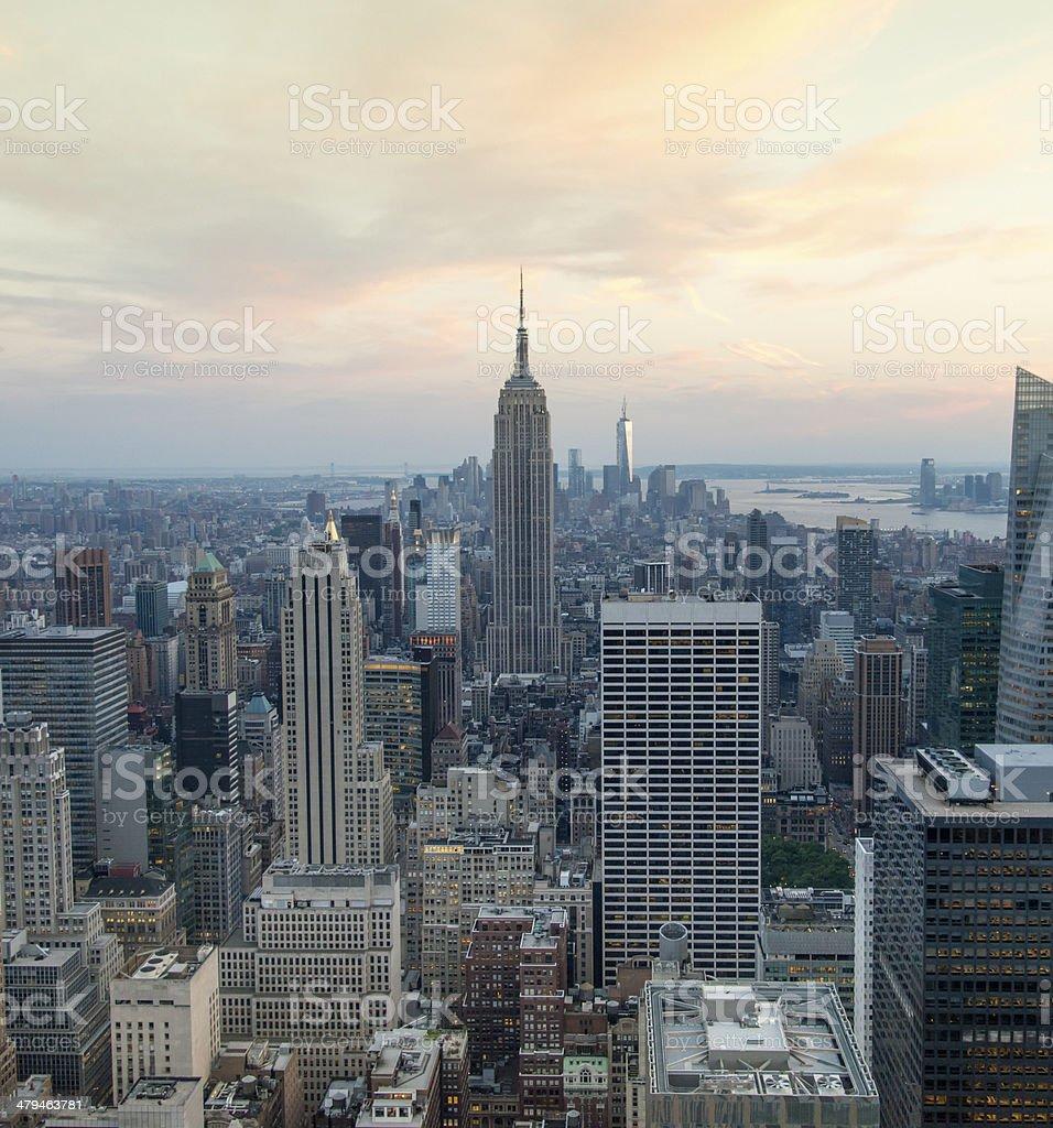 Aerial view of Manhattan New York City royalty-free stock photo