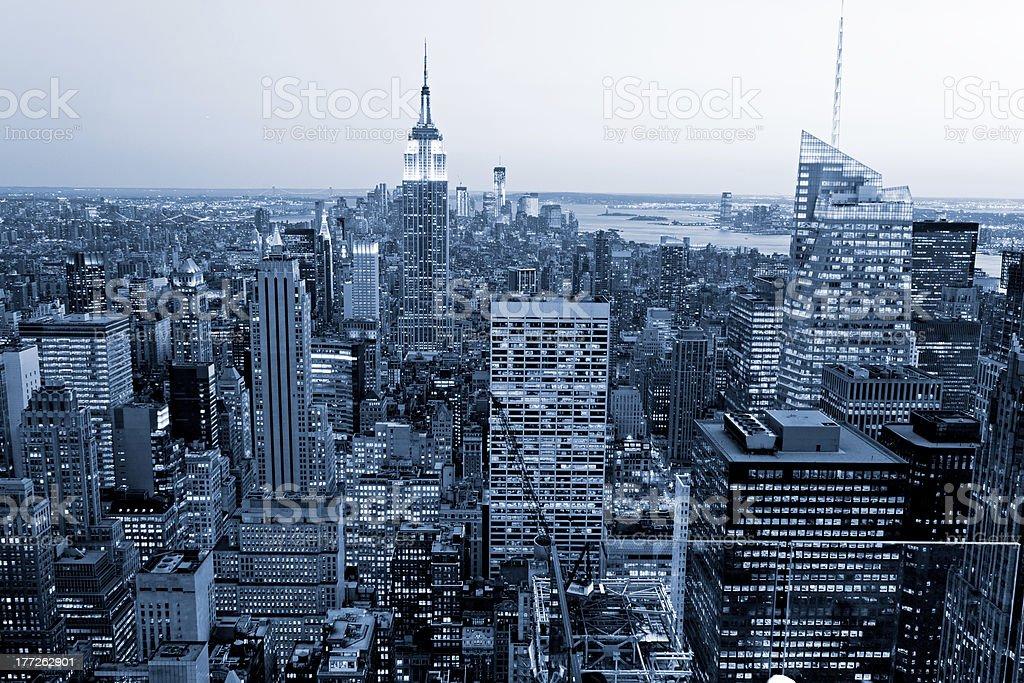Luftbild von Manhattan, new york City, USA. – Foto