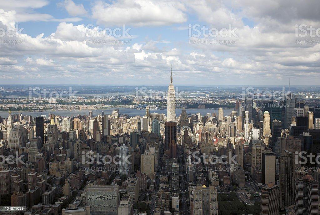Aerial view of Manhattan, New York stock photo