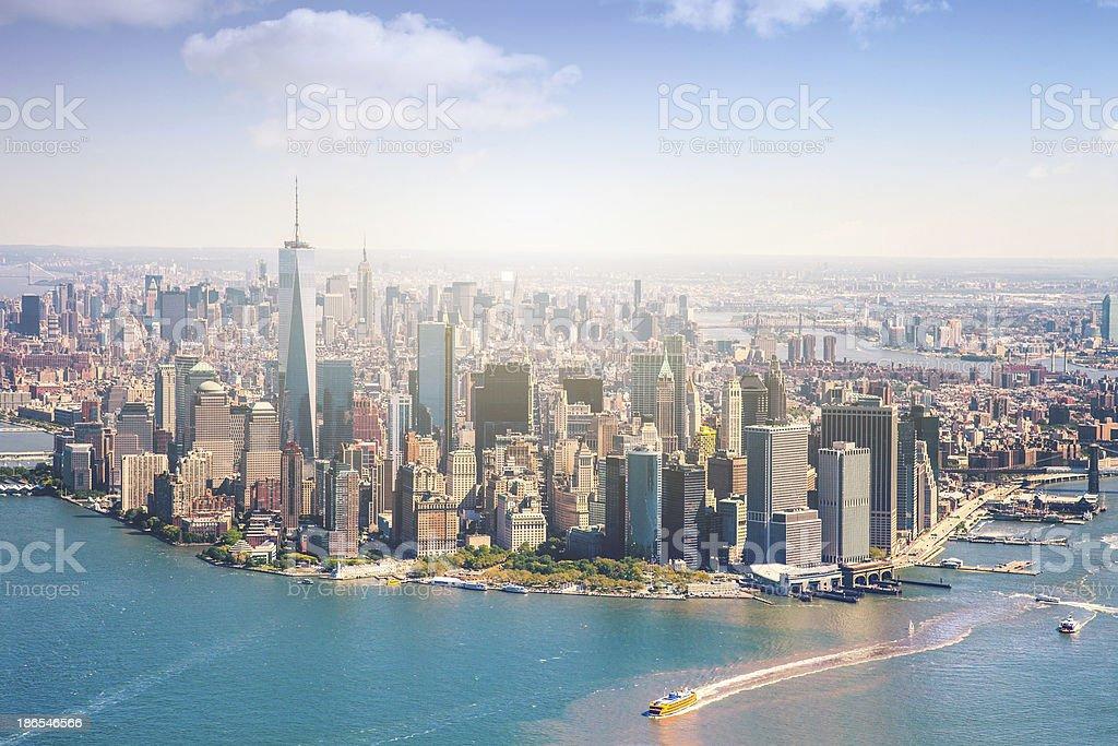 Aerial view of Manhattan - New York stock photo