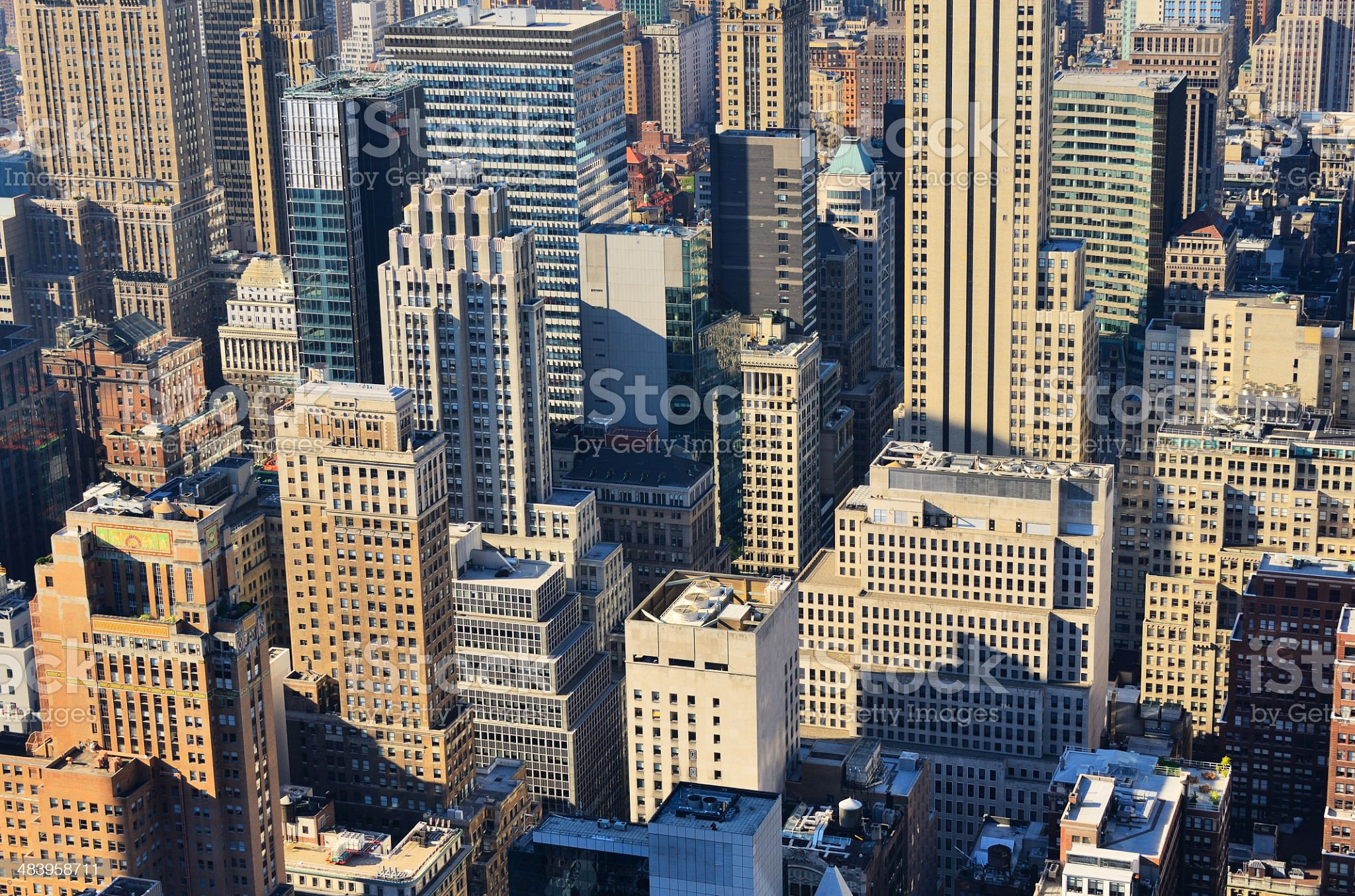 Aerial view of Manhattan royalty-free stock photo
