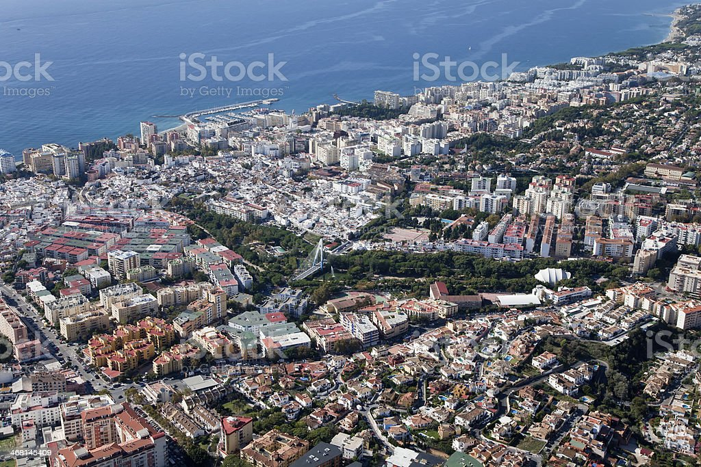 Aerial view of Marbella. stock photo