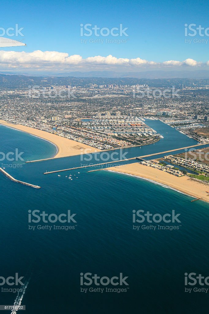 Aerial View of Marina Del Rey stock photo