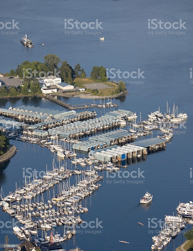 Aerial view of Marina royalty-free stock photo