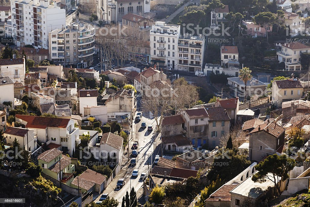Aerial View of Marseille, France royalty-free stock photo