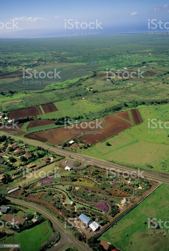Aerial View of Maui royalty-free stock photo