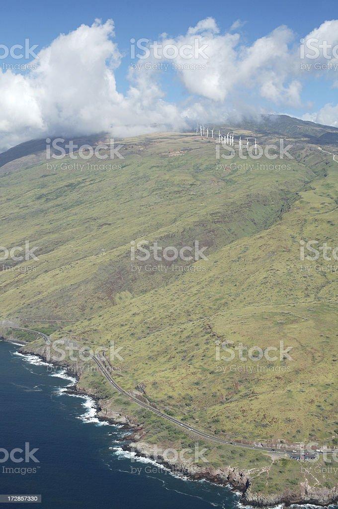 Vue aérienne du Maui Poli Highway-Vertical photo libre de droits