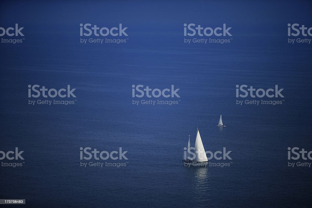 Aerial view of Mediterranean stock photo