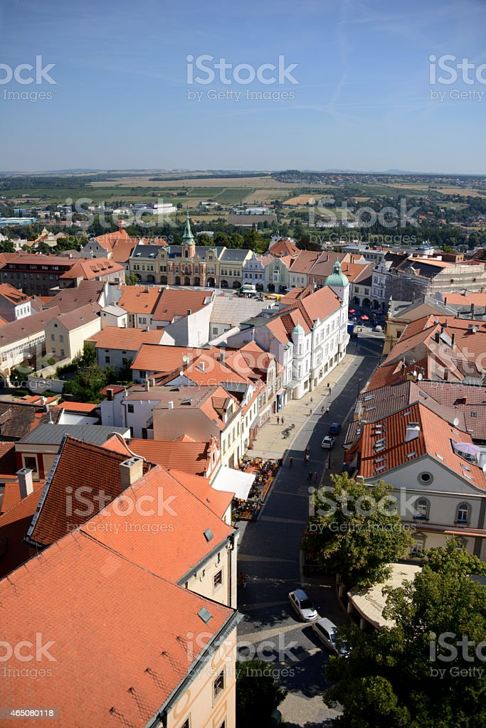 Aerial view of Melnik stock photo