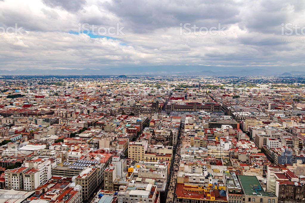 Aerial view of Mexico City - Mexico stock photo
