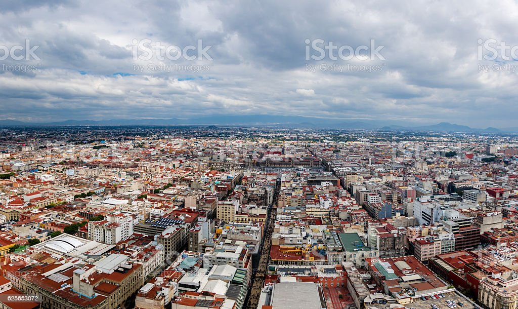 Aerial view of Mexico City - Mexico