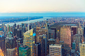 Aerial view of Midtown Manhattan and Central Park