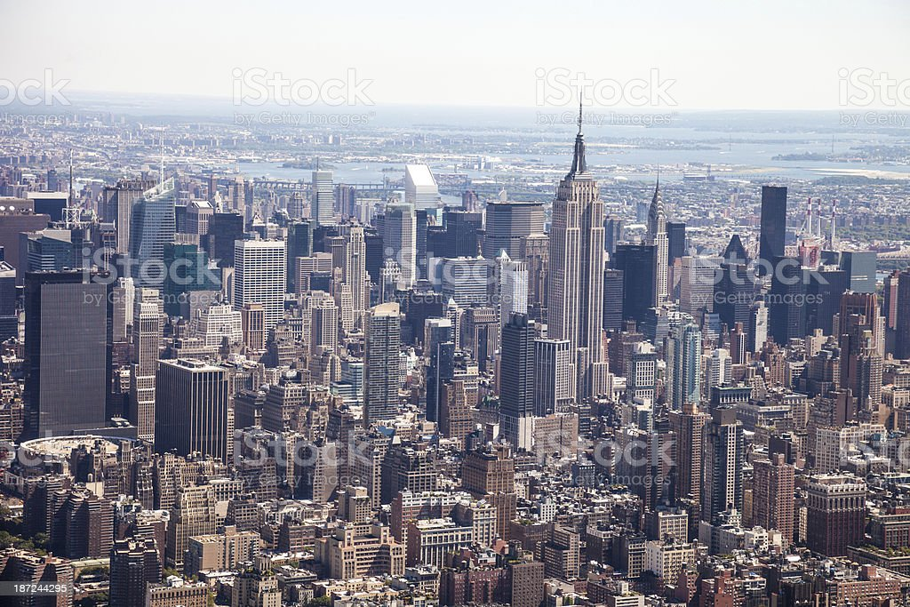 Aerial view of Midtown Manhattan - The Empire royalty-free stock photo
