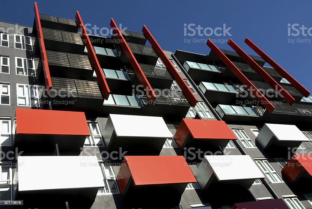 Aerial view of modern city apartments royalty-free stock photo