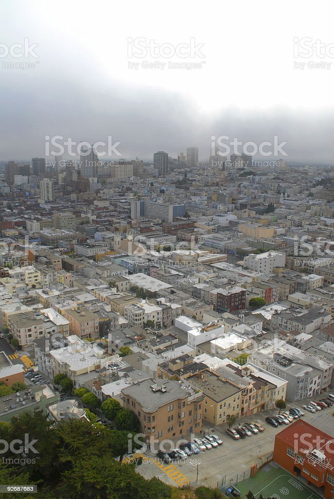 Aerial view of modern city royalty-free stock photo
