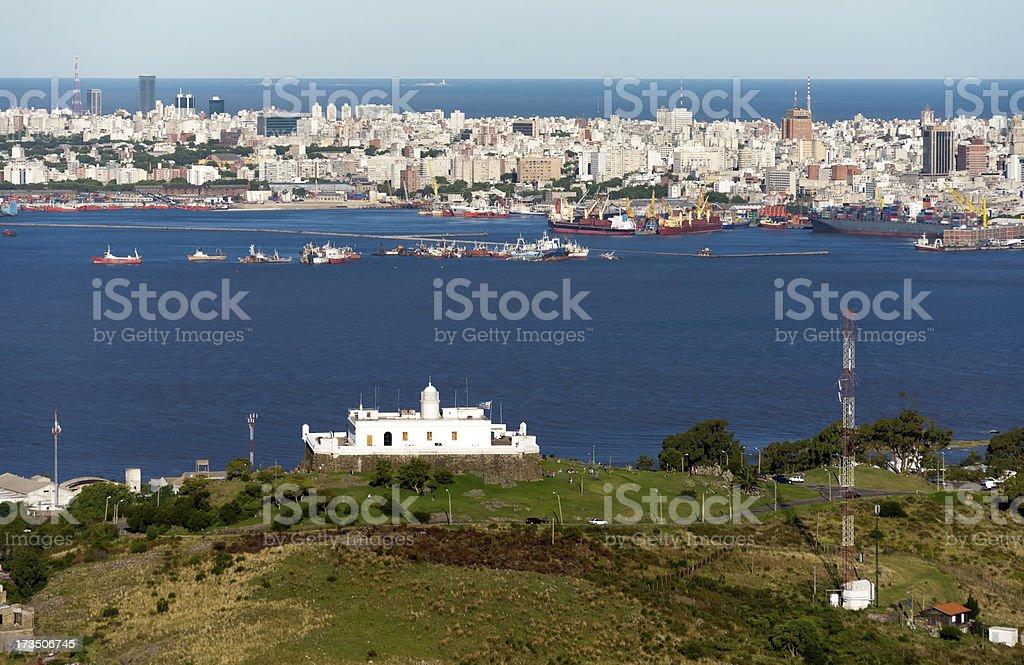 Aerial view of Montevideo, Uruguay stock photo