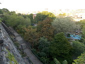 Aerial View of Morningside Park in New York City