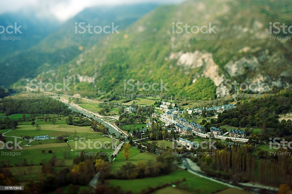 Aerial view of mountain landscape. royalty-free stock photo