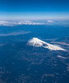 Aerial view of Mt.Fuji, Japan