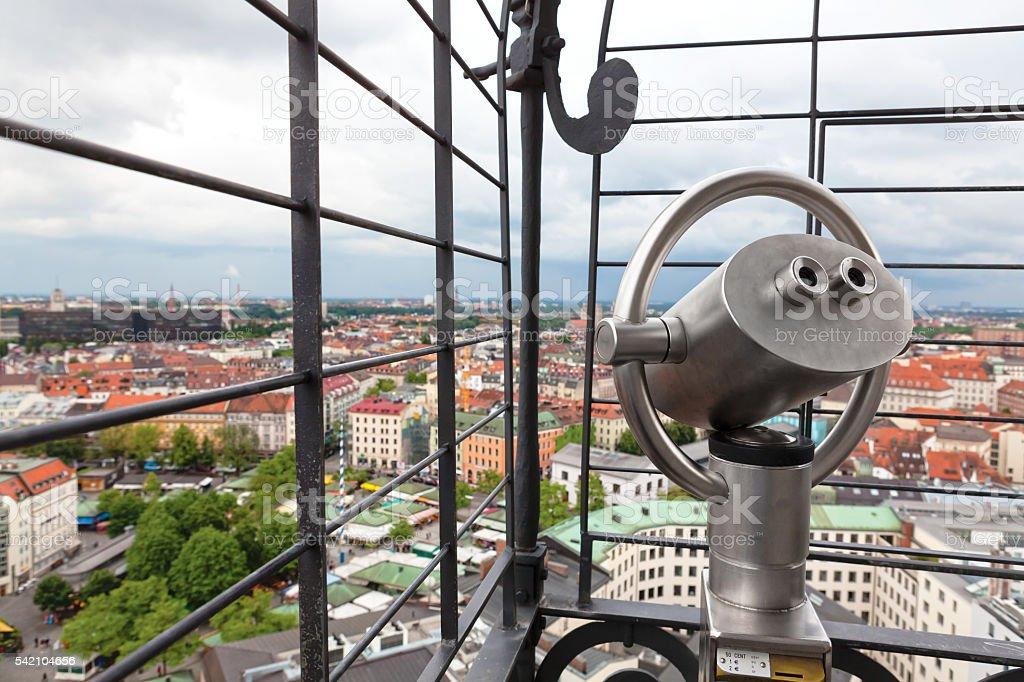 Aerial View of Munich City with Binocular stock photo