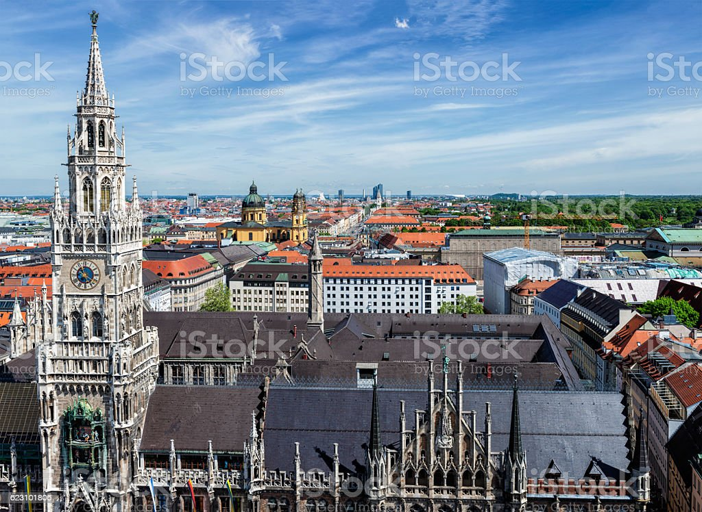 Aerial view of Munich stock photo