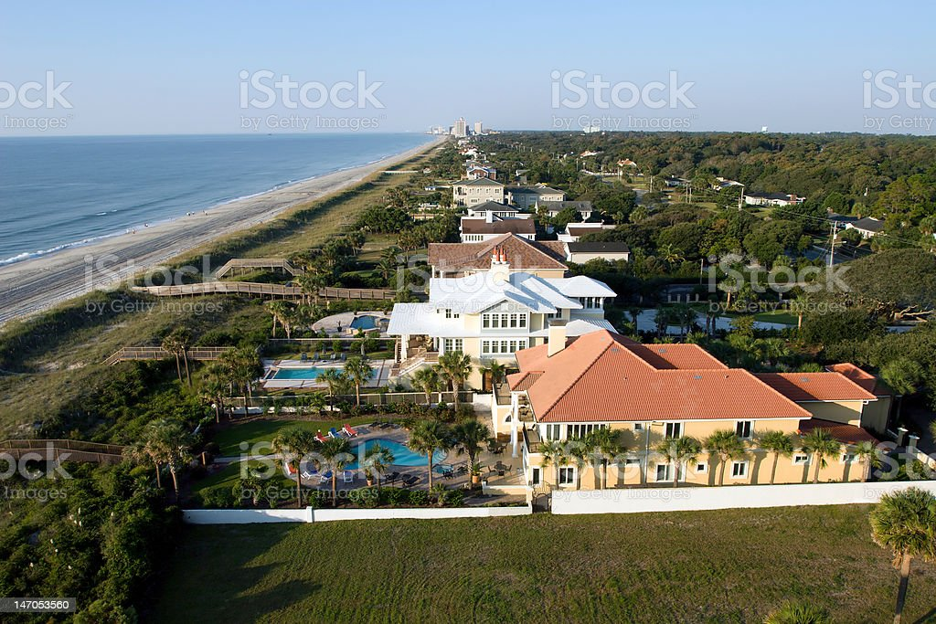 Aerial view of Myrtle Beach stock photo