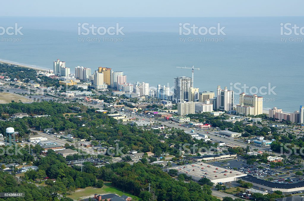 Aerial View of Myrtle Beach, South Carolina stock photo