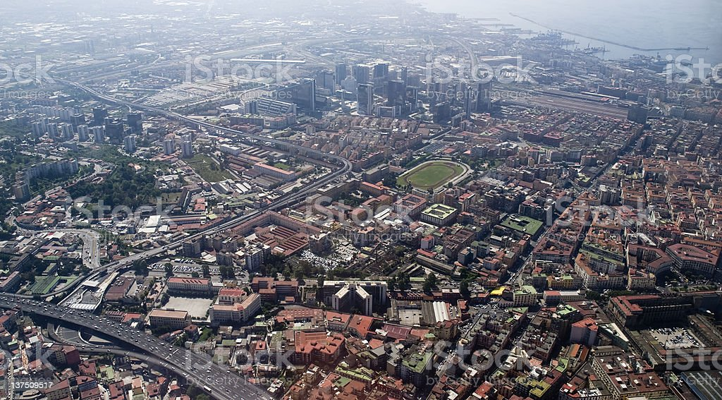 aerial view of Naples royalty-free stock photo