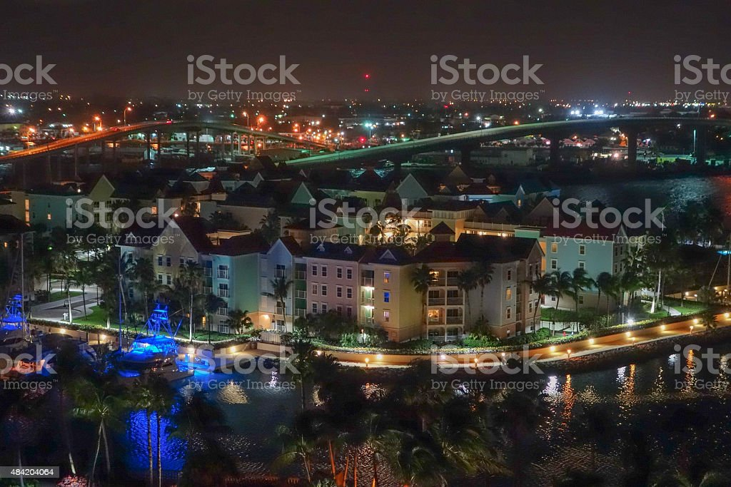 Aerial view of Nassau stock photo